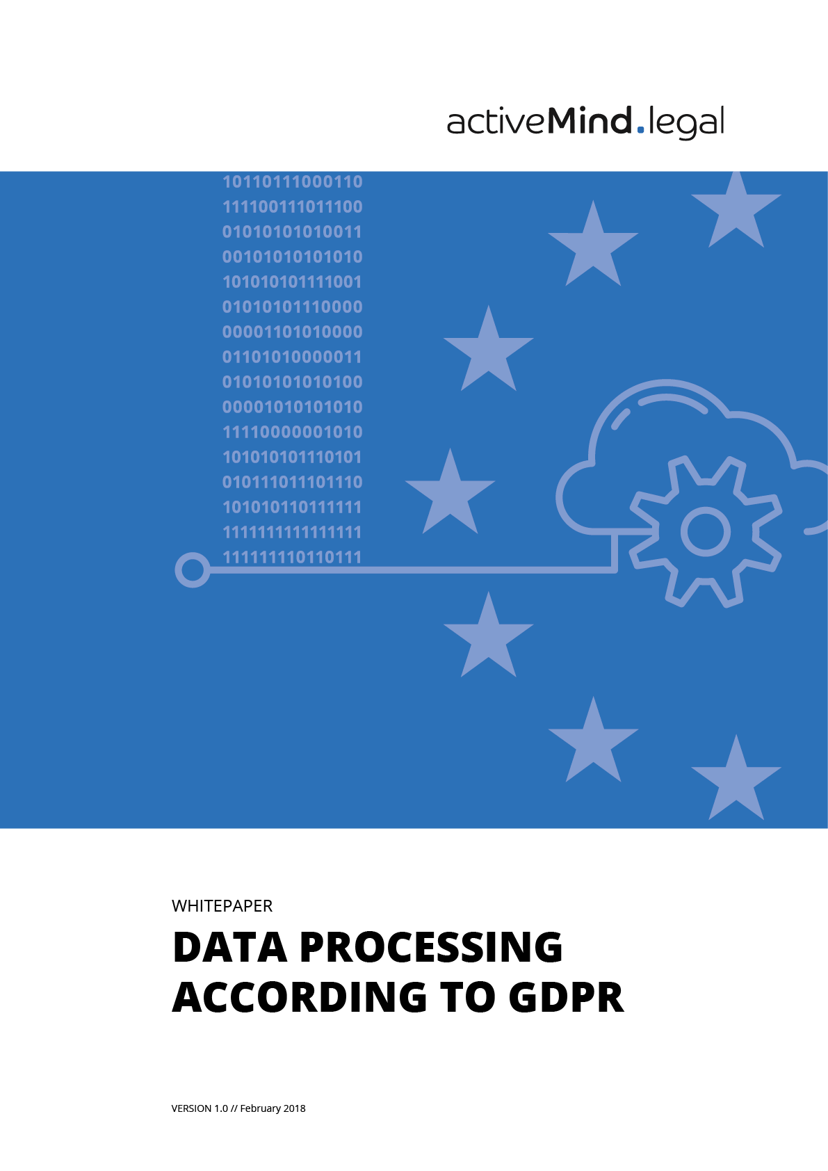 Cover whitepaper data processing on behalf according to GDPR
